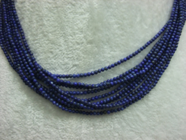 Nat. Lapis Lazuli snoer 2 mm Nr109).