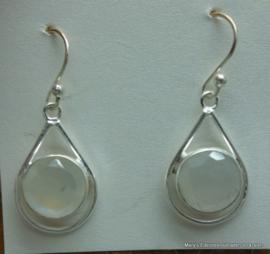 Maansteen oorbellen in zilver
