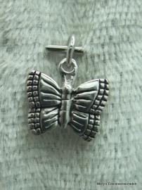 Zilveren hangertje Add-on, vlinder