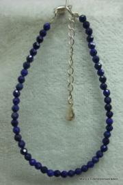 Lapis Lazuli armbandje (natuurlijk)   facet 3 mm (nr37).