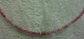 Robijn ketting schaduw facet 2 mm