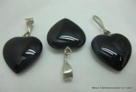 Onyx hartje 2 en 3 cm (per 1).