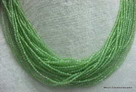Peridot snoer facet  2 mm*