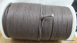 Katoenen koord 2 mm bruin (per 5 mr)