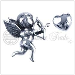 Zilveren hanger Cupido.