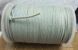 Katoenen koord 2 mm zachtgroen (per 5 mr)