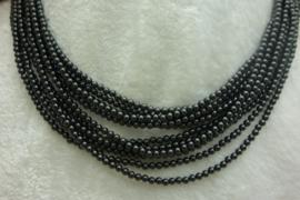 Zwart Spinelsnoer 3 mm