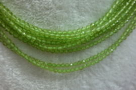 Peridot snoer  facet 3 mm Nr72)*