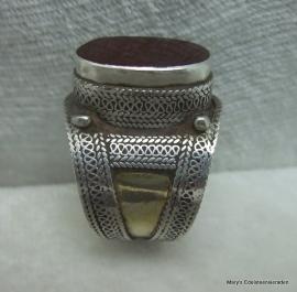 Verguld zilveren ring