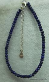 Lapis lazuli armbandje (natuurlijk) facet rondel 2x3 mm (nr31).