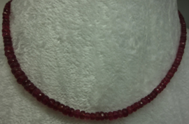 Rode Toermalijn ketting (Rubeliet) nr 2