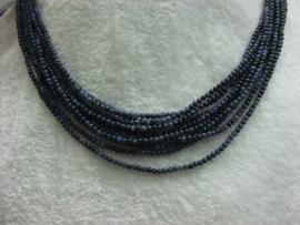 Afr. Blauw Jaspis snoer 2 mm Nr105).
