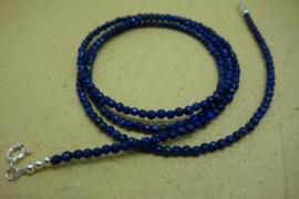 Lapis Lazuli ketting facet ca 2,5 mm (77 cm)
