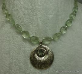 Prasioliet hanger facet+ in zilver