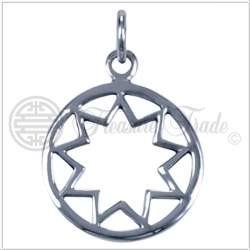 Zilveren hanger Enneagram/Negenpuntige ster**