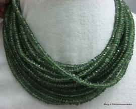 Toermalijn snoer groen facet rondellen ca 5 mm F26*