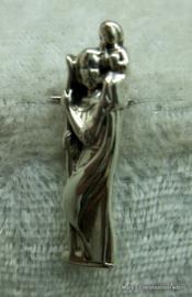 Zilveren hanger Christoffel.