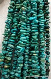 Tibetaans Turkoois snoer trommelsteentjes.