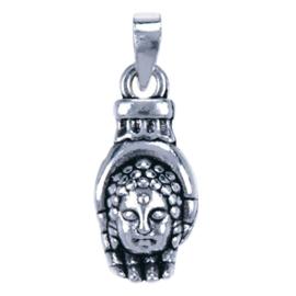 Zilveren hanger Boeddha in hand.