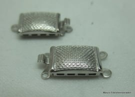 Zilveren armbandslot bewerkt 1-rij (nr7).