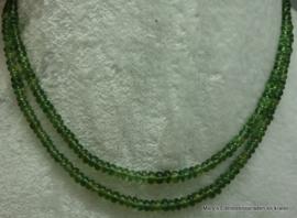 Groene Toermalijn ketting rondellen 5 mm(per stuk)..