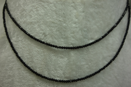 Black Spinel ketting facet 2 mm (per stuk)