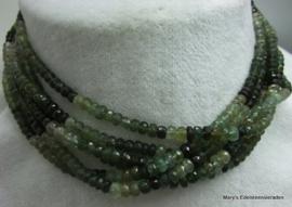 Toermalijn schaduw groen facet button 3-5-3 mm F28a*