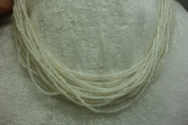 Maansteen snoer facet 2 mm (B49)*