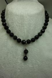 Goud-Obsidiaan ketting facet 12 mm met afneembare hanger