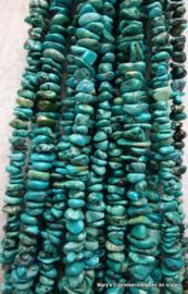 Tibetaans Turkoois snoer trommelsteentjes*