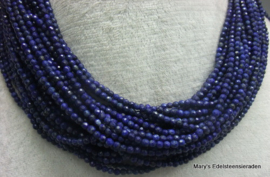 Nat. Lapis Lazuli snoer facet 3 mm.