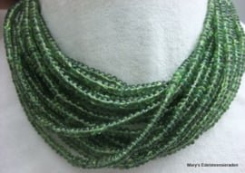 Toermalijn snoer groen rondellen ca 5 mm F25*