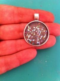 Glitter nail art hanger