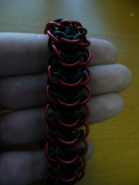 chainmaille interwoven european 4 in 1 armband (02ab016)