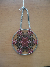 chainmaille dreamcatcher model 2 (99ov007)