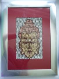 chainmaille inlay boeddha (99ov003)