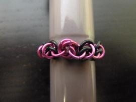 mobius ring roze/zwart