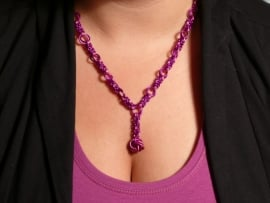 bizantine mobius chainmaille ketting (01kt017)