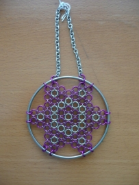 chainmaille dreamcatcher model 3 (99ov007)