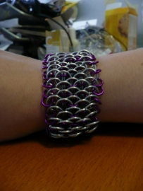 chainmaille dragonscale armband (02ab017)