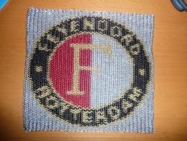 chainmaille inlay feyenoord logo (99ov002)