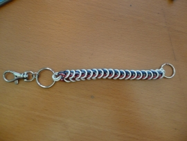 boxchain sleutelhanger/walletchain lang tricolor (05sh001)
