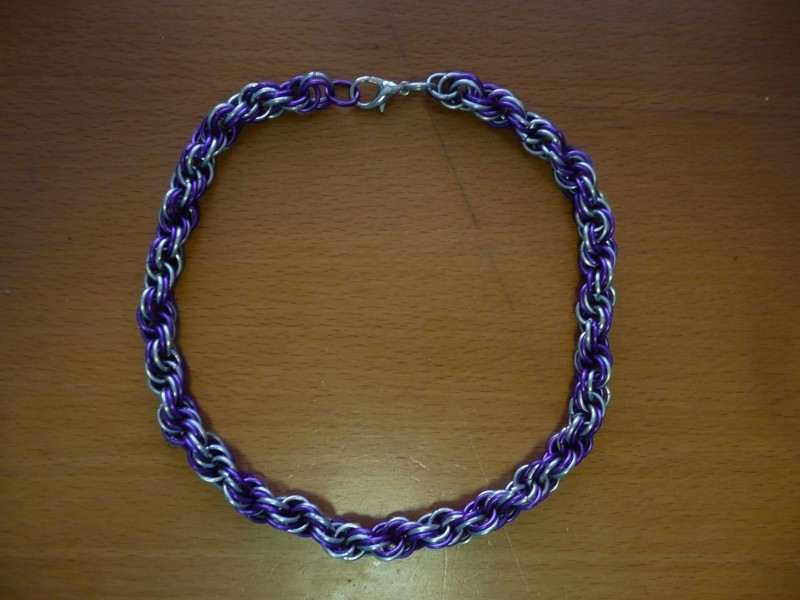 chainmaille dubbele spiral ketting (01kt022)