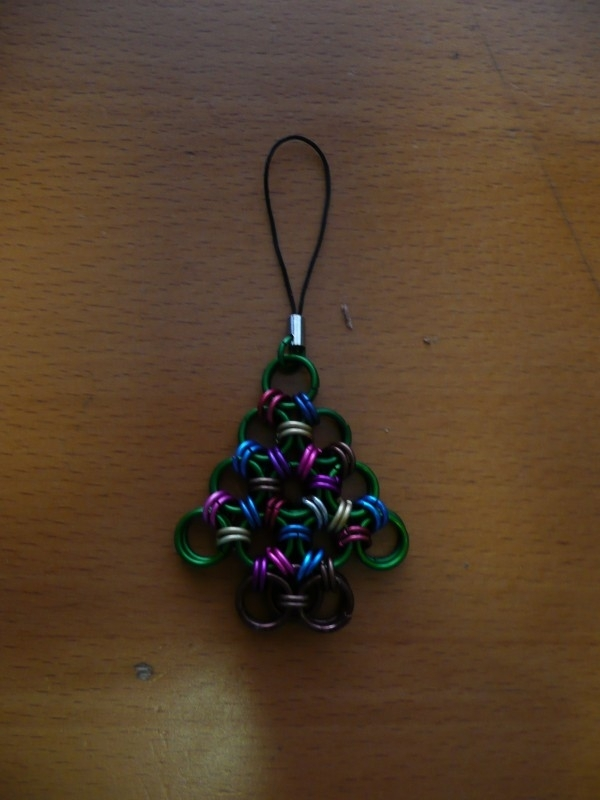 chainmaille japanese christmas tree kerstboom ornament (07xx001)