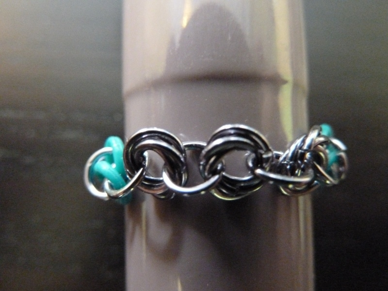 mobius ring turquoise/zilver