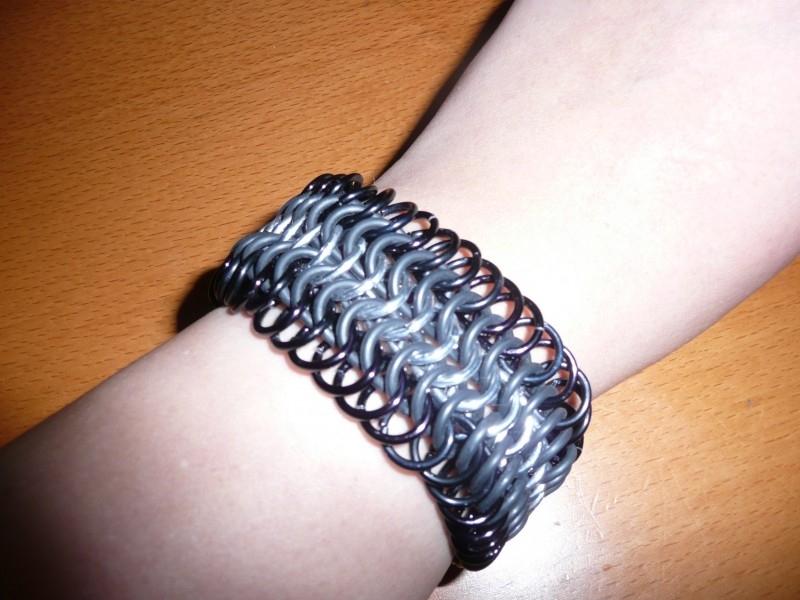 chainmaille european 6 in 1 stretch armband (02ab023)