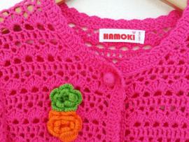 Roze vestje met bloemen