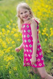 Vestido con flores a crochet