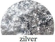 cracked ice flakes zilver