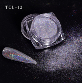 magic laser chrome pigment zilver 12